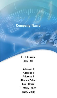 Blue Security Business Card Template